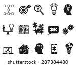 black solution icons set | Shutterstock .eps vector #287384480