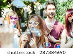 party  a group of friends ... | Shutterstock . vector #287384690