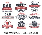 happy father's day badge logo... | Shutterstock .eps vector #287385908
