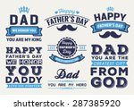 happy father's day badge logo... | Shutterstock .eps vector #287385920