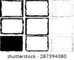 grunge frame texture set  ... | Shutterstock .eps vector #287394380