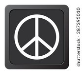 peace sign   vector icon on a... | Shutterstock .eps vector #287395010