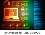 safety concept  closed padlock... | Shutterstock . vector #287395928