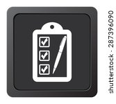checklist   vector icon on a... | Shutterstock .eps vector #287396090