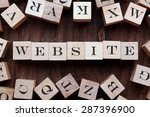 text of website on cubes