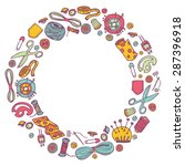 circular doodle  illustration...   Shutterstock . vector #287396918