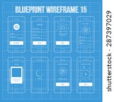 mobile app blueprint wireframe...