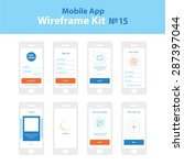 mobile app wireframe ui kit 15. ...