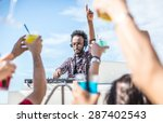 dj set at the beach party. dj... | Shutterstock . vector #287402543