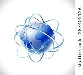 modern global networks isolate... | Shutterstock .eps vector #287405126