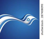 abstract cover israeli ribbon... | Shutterstock .eps vector #287408090