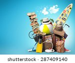 vacation and travel  a huge... | Shutterstock . vector #287409140