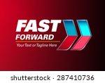 fast forward logo | Shutterstock .eps vector #287410736