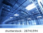 empty warehouse toned in the... | Shutterstock . vector #28741594