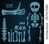 set of cartoon human bones ... | Shutterstock .eps vector #287417084