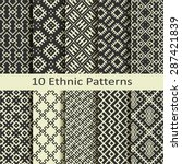 set of ten ethnic patterns | Shutterstock .eps vector #287421839