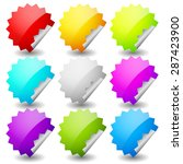 starburst shape sticker set in... | Shutterstock .eps vector #287423900