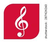treble clef icon | Shutterstock .eps vector #287424260