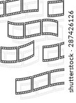filmstrips  film rolls vector... | Shutterstock .eps vector #287426126