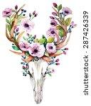bohemian watercolor vector... | Shutterstock .eps vector #287426339