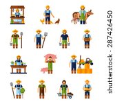 farmers and gardeners flat... | Shutterstock .eps vector #287426450