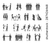 colleagues friends and... | Shutterstock .eps vector #287426468