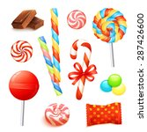 candies and sweets set with... | Shutterstock .eps vector #287426600