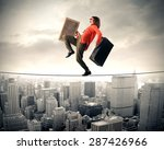 clown carrying suitcases | Shutterstock . vector #287426966