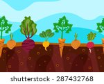 vegetables decorative icons set ... | Shutterstock .eps vector #287432768