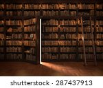 Secret Door In The Bookcase....