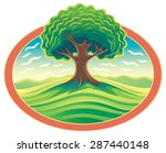 Vector Tree In Frame. Nature...