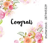 watercolor greeting card... | Shutterstock . vector #287445329