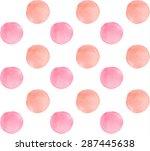 watercolor simple pastel pink... | Shutterstock .eps vector #287445638