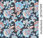 ethnic floral seamless pattern. ... | Shutterstock .eps vector #287447099