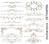 antique decorative elements ... | Shutterstock .eps vector #287448986