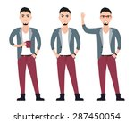 fashionable casual young man... | Shutterstock .eps vector #287450054