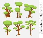 cartoon vector set of bright... | Shutterstock .eps vector #287454770