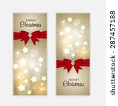 christmas website banner and... | Shutterstock . vector #287457188