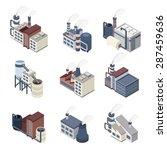 industrial buldings isometric...   Shutterstock .eps vector #287459636