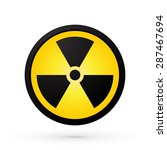 simple radioactivity symbol | Shutterstock .eps vector #287467694