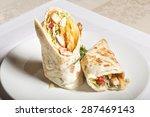 Delicious Burrito Brunch Cut I...