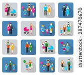 family and people flat icons... | Shutterstock .eps vector #287470670