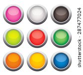 glossy glass buttons. vector... | Shutterstock .eps vector #287477024