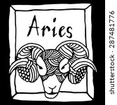 aries horoscope sign vectorized ... | Shutterstock .eps vector #287481776