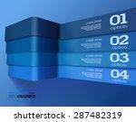 modern 3d blue info graphics....