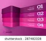 modern 3d pink info graphics....
