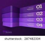 modern 3d deep violet info...