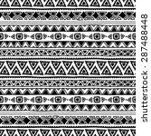 seamless ethnic pattern. black...   Shutterstock .eps vector #287488448