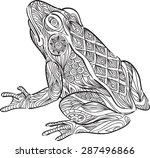 a hand draw of frog in... | Shutterstock .eps vector #287496866