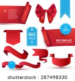 set of realistic badges ... | Shutterstock .eps vector #287498330